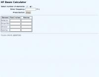 HF Beam Calculator
