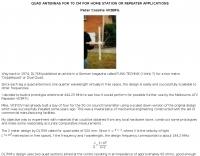 Quad antenna for 70 cm
