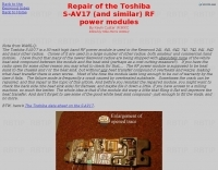 Repairing the TM-241 Toshiba S-AV17
