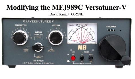 MFJ 989C modification
