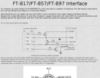 CAT cable schematic for FT 817 857 897