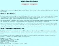VSWR Reactive Power