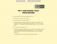 TR-7 DIODE TEST