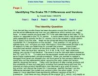 Identifying The Drake TR-7