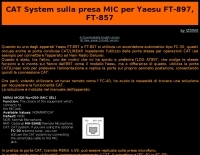 CAT System on MIC socket for Yaesu FT-897 FT-857