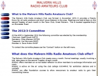 Malvern Hills Radio Amateurs Club