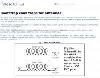 Bootstrap coax traps for antennas