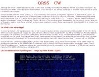 QRSS CW