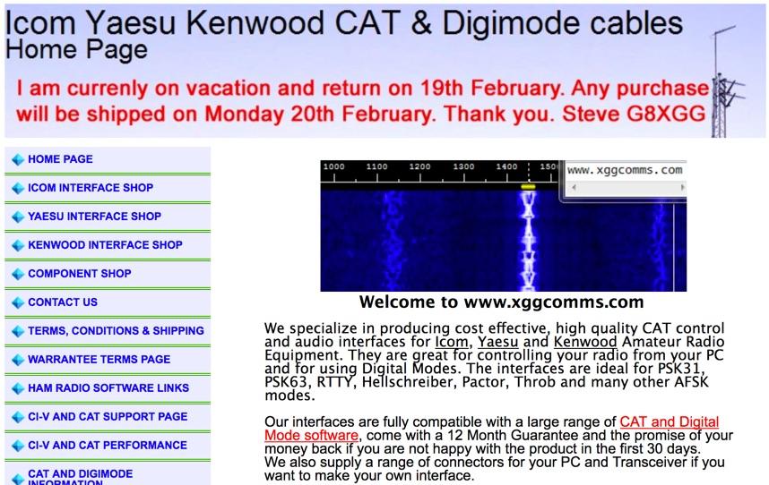 Xggcomms Icom Yaesu CAT Interfaces