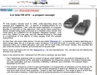 2.4 GHz FM ATV