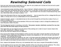 How rewind solenoid coils