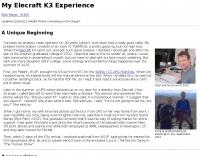 W1MJ Elecraft K3 Experience