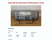 Elecraft K3 Receiver Performance Test