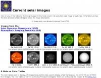 Current solar images