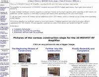 24 MOSFET Class E RF Amplifier
