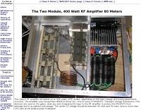 The Two Module, 400 Watt RF Amplifier 80 Meters