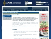 ARRL High Speed Digital Topics