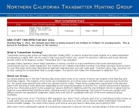 Northern California Transmitter Hunting Group