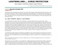 Lightning and Surge Protection