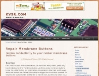How to repair membrane buttons