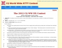 CQ WW DX Contest Rules