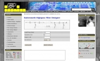 Highpass filter calculator