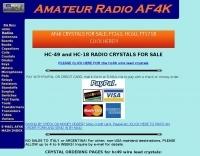 AF4K Crystals for amateur radio