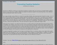 Preventing Feedline Radiation