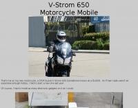 Motorcycle mobile setup
