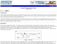Simple RF Measurement Probe