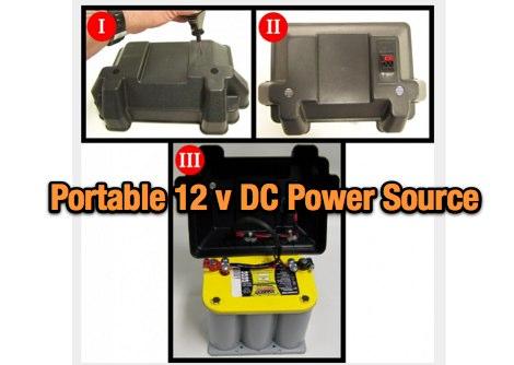 Building a portable 12 Volt DC power source
