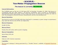 N1KXR/B - Ten-Meter Propagation Beacon
