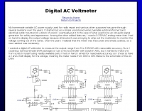 Diigital AC Voltmeter