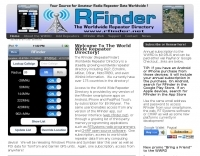 RFinder Worldwide Repeater Directory