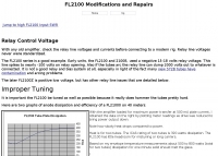 FL2100 Modifications and Repairs