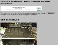Reapairing FL-2100B amplifier