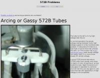 Arcing or Gassy 572B Tube