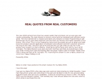 Alpha 9500 customer quotes