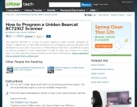 How to Program a Uniden Bearcat BC72XLT