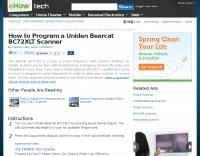 How to Program a Uniden Bearcat BC72XLT