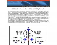 Coax Two Antenna Matching Network