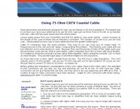 Using 75 Ohm CATV Coaxial Cable