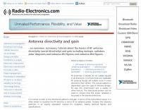 Antenna directivity and gain