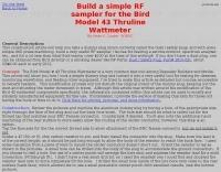 Build a simple RF sampler