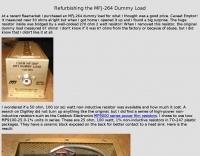 Refurbishing the MFJ-264 Dummy Load