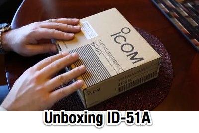 Icom ID-51 Unboxing