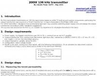 200W 136 kHz transmitter