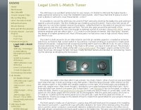 Legal Limit L-Match Tuner