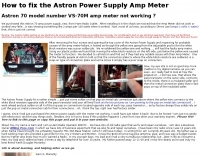 Fix the Astron Power Supply Amp Meter