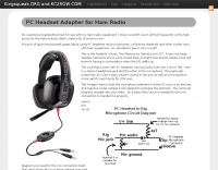 PC Headset Adapter for Ham Radio